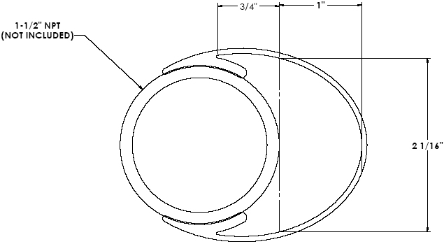 Technical Drawing of Chief CMA-474 or CMA-275 Quick Snap Cable Covers