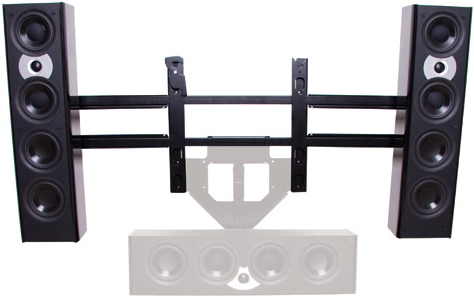 "Chief PACLR2 Left or Right Speaker Adapter for 46""-65"" Display Black"