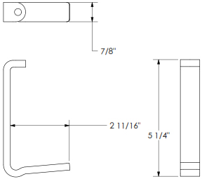 Technical drawing for Chief KSA1012B Extended Reach Desk Clamp Bracket