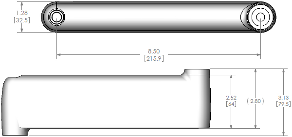 Technical Drawing for Chief MAC1003 J Series Extension Arm Kit