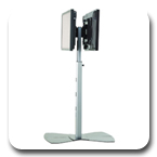 Chief MF26000B or MF26000S Flat Panel Dual Display Floor Stand for 30-55 inch LED Displays