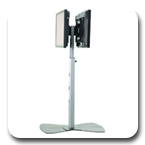 Chief PF22000B or PF22000S Flat Panel TV Dual Floor Stand for 42-71 inch LCD LED Displays