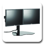 Chief KTP220S or KTP220B Table Stand Flat Panel Dual Horizontal Monitor Mounts