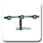 Chief KTP320B or KTP320S Triple Table Stand Flat Panel Horizontal Monitor Mounts