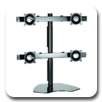 Chief KTP440B or KTP440S Quad Table Stand Flat Panel Monitor Mounts