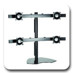 Chief KTP445B or KTP445S Table Stand Flat Panel Quad Widescreen Monitor Mounts