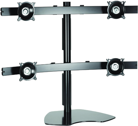 Chief KTP445B Quad Table Stand Flat Panel Widescreen Monitor Mounts