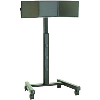 chief kfa325 widescreen triple monitor cartstand accessory