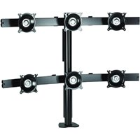 Chief KTC330B or KTC330S Flat Panel Six Monitor Desk Clamp Mount up to 20 lbs each LED LCD Monitor