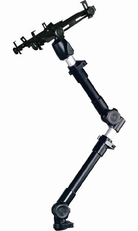 "Cotytech AM-2T iPad Ball Joint Head Dual Arm Car Holder (Extension range: 24"" - 35"")"