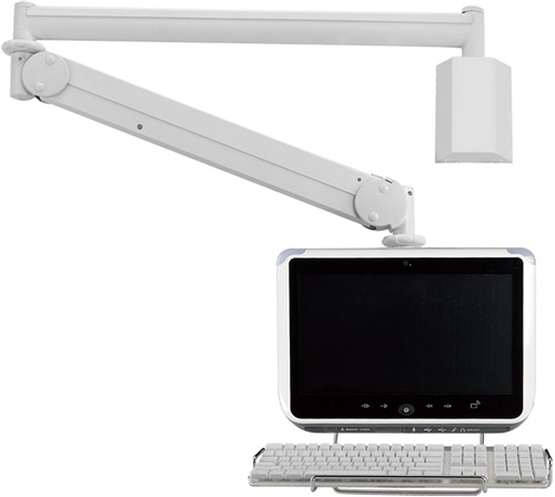 "Cotytech MW M23PK Long Reach (up to 73"" Extension) Wall Mount LED Medical Arm"
