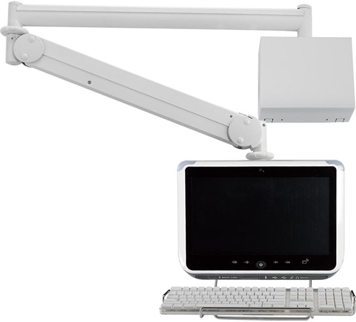"Cotytech MW M23WBK Long Reach (up to 73"" Extension) Wall Mount LED Medical Arm"