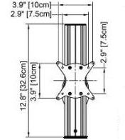 Technical Drawing for Cotytech AC-020 Dynamic Front End Height Adjustor