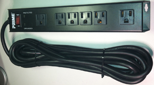 Mountable Power Strip 6 Outlet Surge Protector Wall