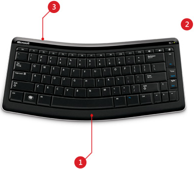 Microsoft T4L 00001 Comfortable Bluetooth Mobile 5000 Keyboard