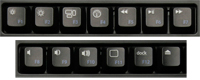 Top Row Driverless Hot Keys