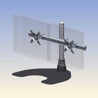 Ergotech 100 D16 B02 Hd Dual Display Heavy Duty Lcd Desk Stand