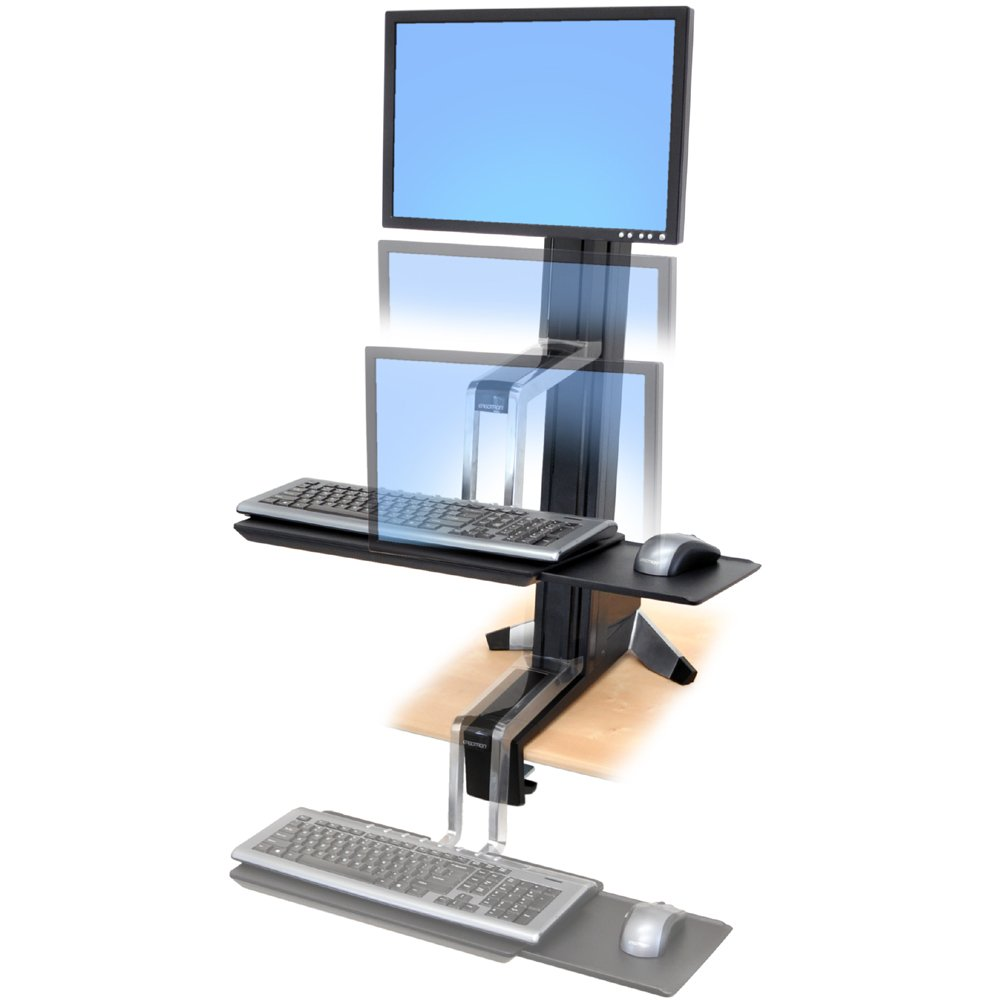 Workfit S Ergotron 33 342 200 Single Ld Sit Stand Workstation