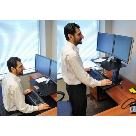 Standing Desk Ergotron 33 341 200 Workfit S Dual Monitor