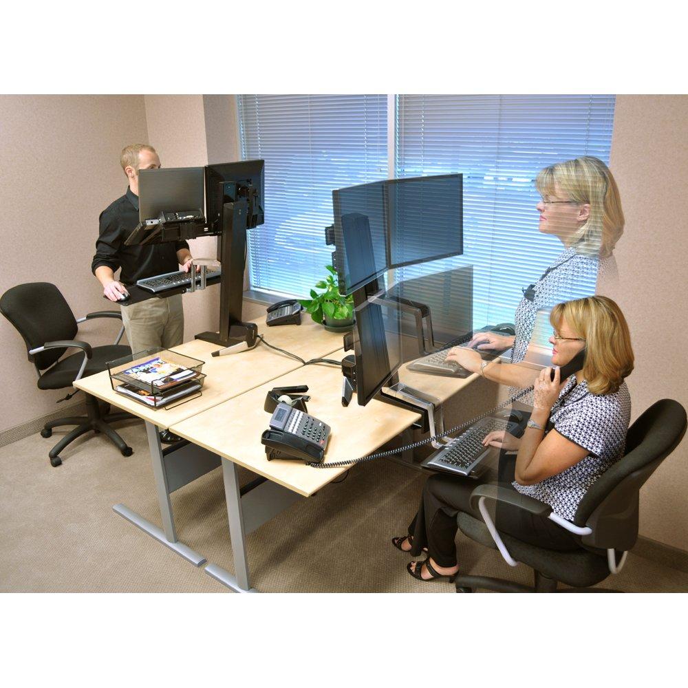 Standing Desk Ergotron 33 341 200 Workfit S Dual Monitor Sit Stand Workstation
