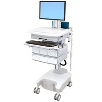 Ergotron SV32-81226 StyleView PHD LCD Cart with 6 Drawers Powered (White/Grey)