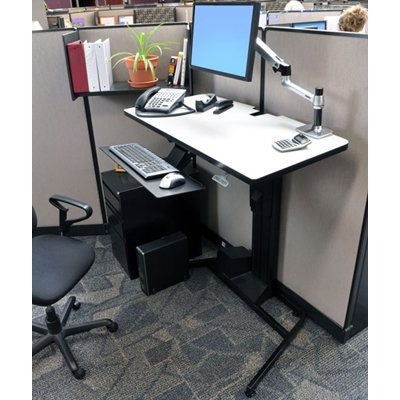 Charmant Ergotron 24 219 200 WorkFit D Sit Stand Desk With Desk Mount
