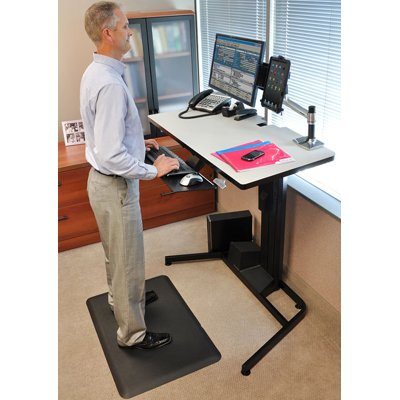 Ergotron Workfit D Sit Stand Desk Light Grey Surface