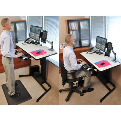 Beau Ergotron 24 219 200 WorkFit D Sit Stand Desk With Desk Mount