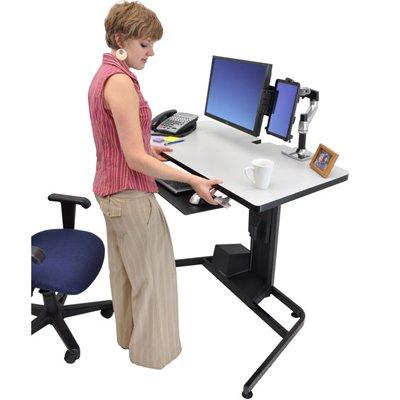 Ergotron 24 219 200 Workfit D Height Adjustable Standing Desk