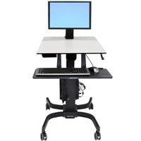 Ergotron 24-215-085 WorkFit-C Single Monitor Sit-Stand Workstation, LD, with Mobile Cart Base