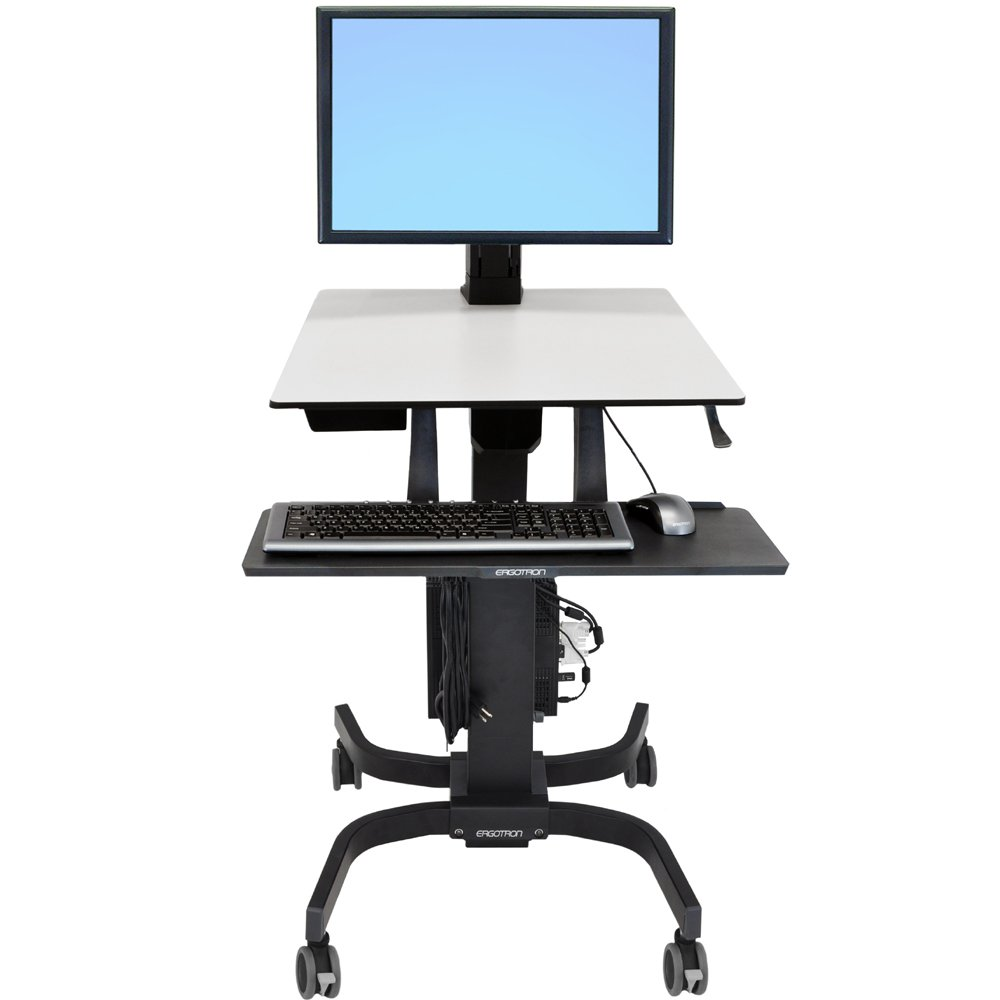Sit Stand Cart Ergotron 24 216 085 Workfit C Single Hd