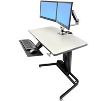 Ergotron 24 219 200 Sit Stand Desk With 45 245 026 Dual