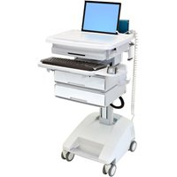 Ergotron SV32-6121-1 StyleView PHD Healthcare Laptop Cart with 2 Drawers, SLA Powered