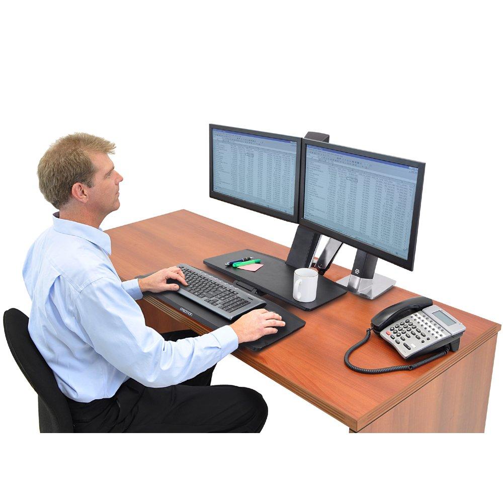 Standing Desk Ergotron 24 316 026 Workfit A Dual Monitor
