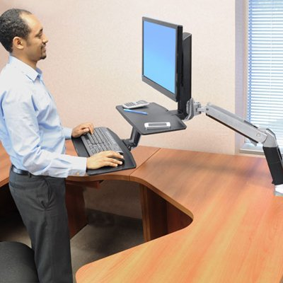Standing Desk 24 390 026 Ergotron Workfit A With Suspended