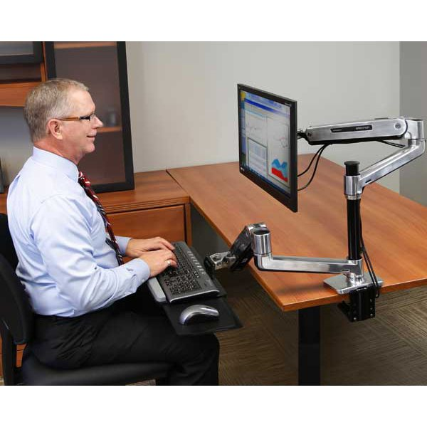 Sit Stand Desk Monitor Arm Ergotron 45 384 026