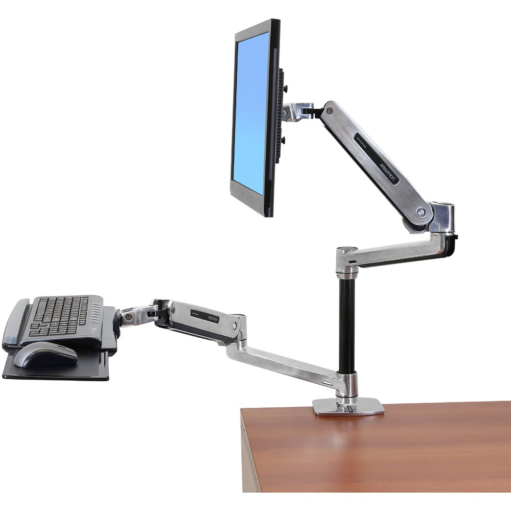 Lx Sit Stand Desk Monitor Arm Ergotron 45 360 026