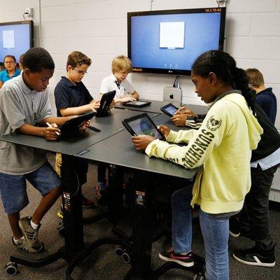 Learnfit Adjustable Student Desk Ergotron 24 458 200