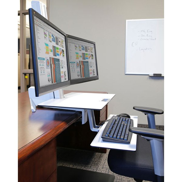 33 349 211 Ergotron Workfit S Dual Monitor With Worksurface