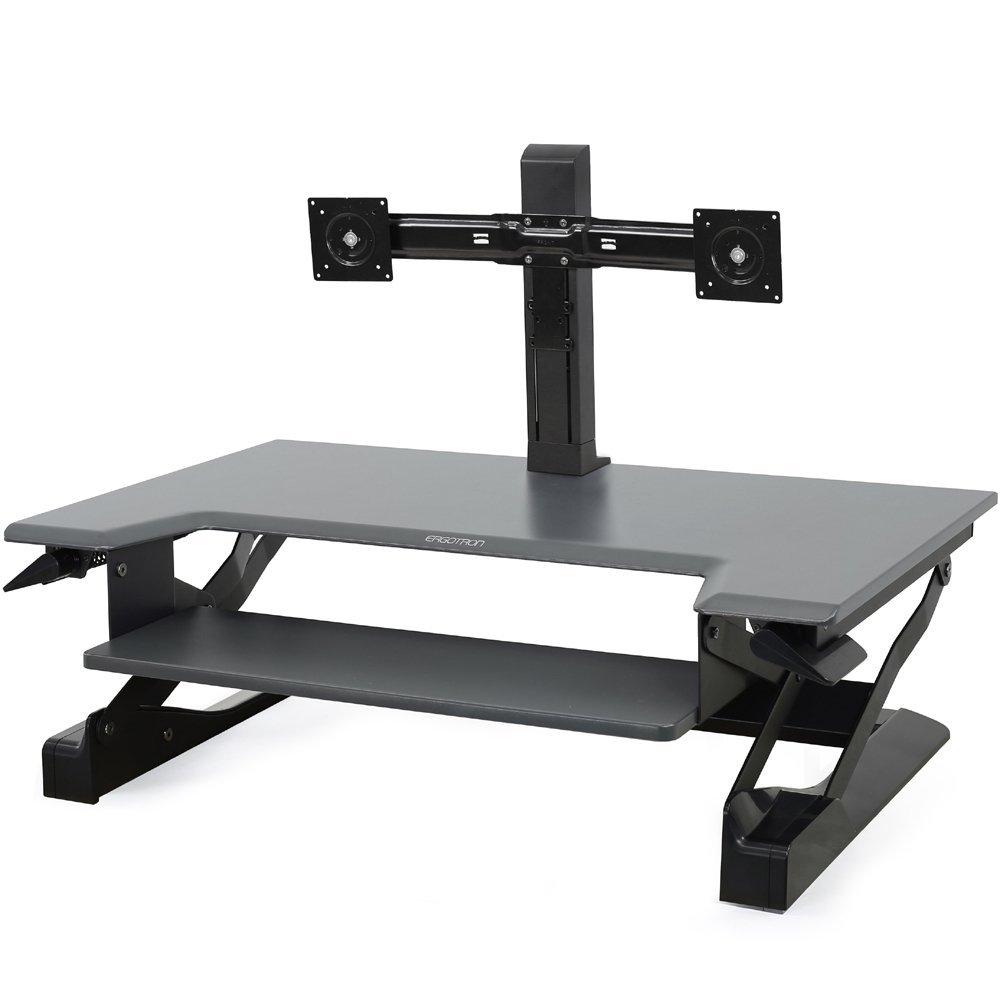 Ergotron ED-WFT-D2M Dual Monitor Sit-Stand Desktop Workstation