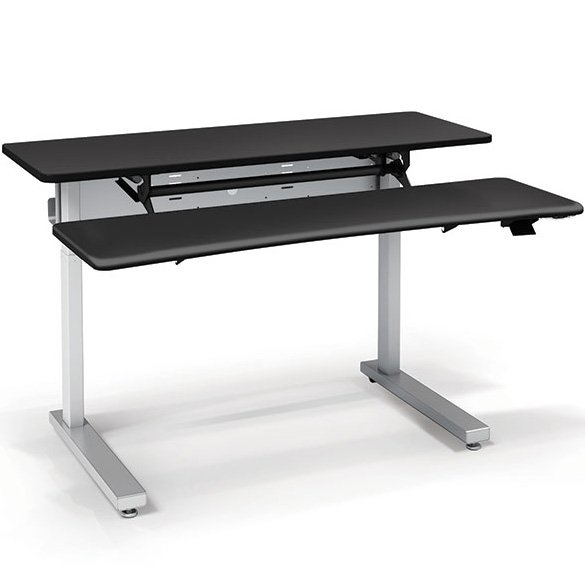 Ergotron Mvjb60ss Elevate Adjusta 60 Electric Sit Stand Desk