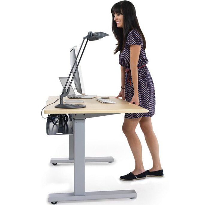 Ergotron Mvbd60ss Elevate 60 Electric Sit Stand Desk