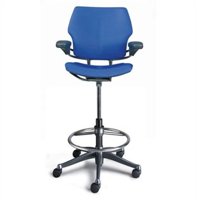 High Office Chairs humanscale_freedom_ergonomic_drafting_leather_high_office_chair