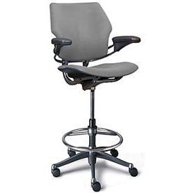 High Office Chairs humanscale_freedom_ergonomic_drafting_leather_high_office_chair_1