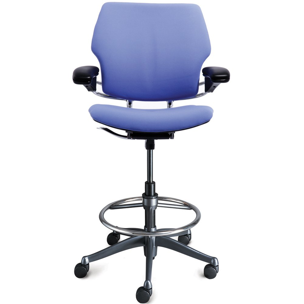 freedom ergonomic drafting leather high office chair