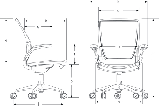 Specifications of Humanscale Diffrient World Ergonomic Chair