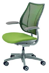 Humanscale Liberty Task or Conference Chair -Silver Base - Silver Frame - Silver Trim