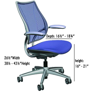 Diagram for Humanscale Liberty Task or Conference Chair