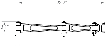 "M7 Non-Adjustable Arm with One 12"" Link and one 8"" Link"