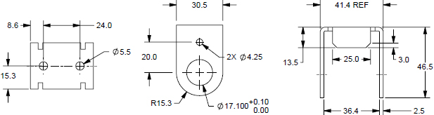 Technical Drawing for Humanscale RL Rotating Ball Joint